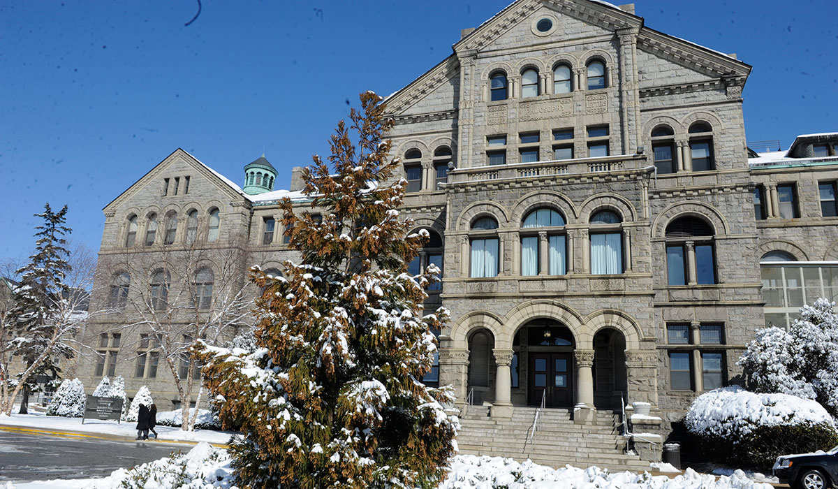 McMahon Hall snowed in